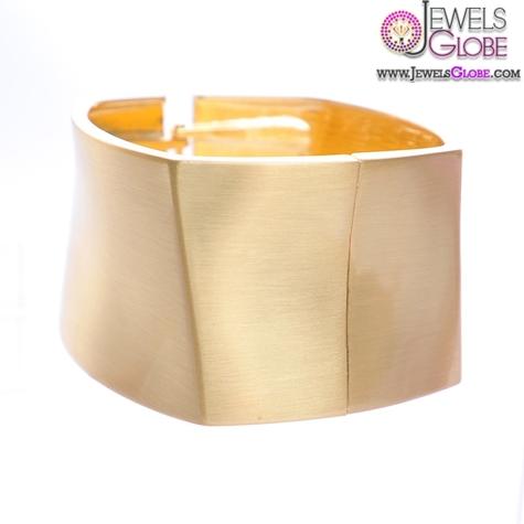 Shiny-Gold-Metallic-Women-Cuff-Bracelet 35 Hot Cuff Bracelets For Women