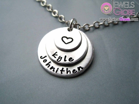 Shiny-Matte-Silver-Baby-Name-Necklace 33 Amazing Designs Of Baby Necklaces
