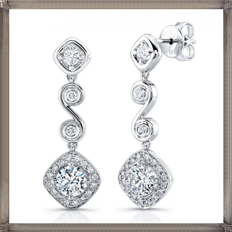Signature-Collection-Platinum-Diamond-Earrings Latest Signature Diamond Earrings For Women