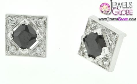 Silver-Black-Stone-CZ-Earrings-for-Women Latest Fashion Black Diamond Earrings For Women