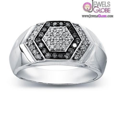 Silvermist-Diamonds-Sterling-Silver-Hexagon-Mens-Ring 19 Awesome Mens Sterling Silver Rings