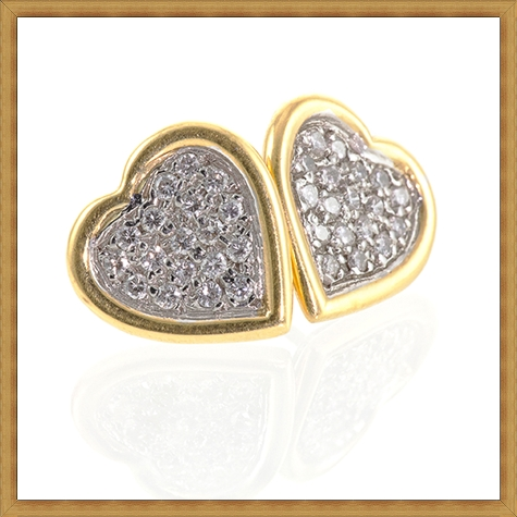 Simple-and-sparkling-these-Diamond-heart-shaped-earrings-feature-Pave-se Best Ways to Choose Most Stylish Earrings