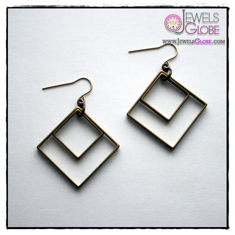Square-Earrings-Accessories Art of Wearing Jewelry for Young Girls