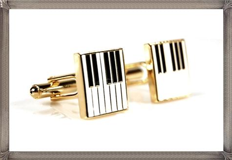 Square-Piano-Keys-Pattern-Personalised-Men-Cufflinks-One-Pair personalised cufflinks for men