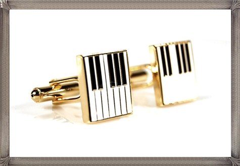 Square-Piano-Keys-Pattern-Personalised-Men-Cufflinks-One-Pair personalised cufflinks for men