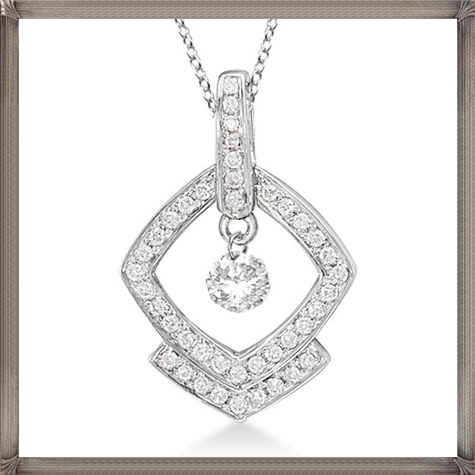 Square-Shaped-Diamond-Pendant-Necklace-14K-White-Gold The 13 Most Stylish White Gold Necklaces For Women and Choice TIPS