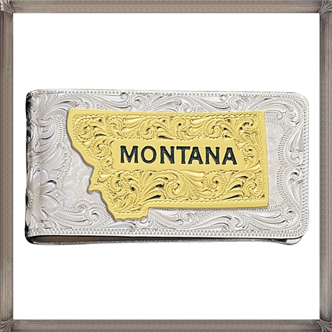 Square-silver-money-clip-is-fully-engraved-with-western-style-silver The 15 Most Popular Sterling Silver Money Clips for 2019