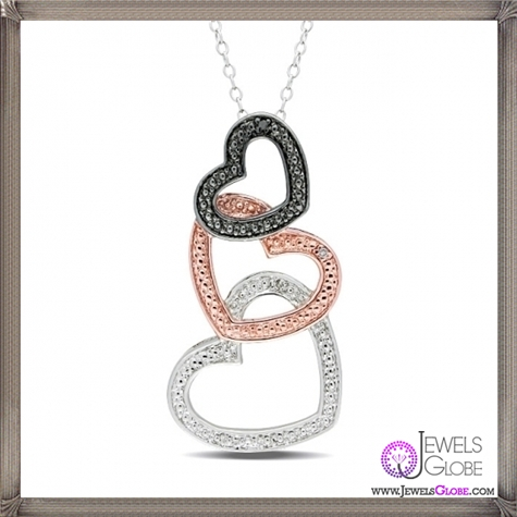 Sterling-Silver-Black-and-White-Diamond-Heart-Necklace The 28 Best Diamond Heart Necklaces & Pendants For Women and Buying TIPS