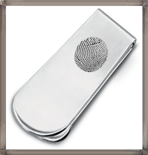 Sterling-Silver-Fingerprint-Money-Clip The 15 Most Popular Sterling Silver Money Clips