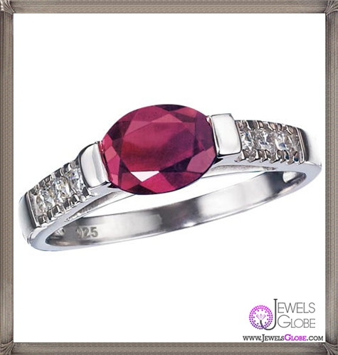 Sterling-Silver-Genuine-Ruby-Ring The 32 Most Elegant Genuine Ruby Rings For Women 2019