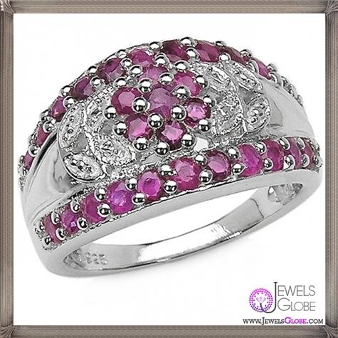 Sterling-Silver-Genuine-Ruby-Rings 32+ Most Elegant Genuine Ruby Rings For Women