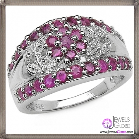 Sterling-Silver-Genuine-Ruby-Rings 32+ Most Elegant Genuine Ruby Rings For Women