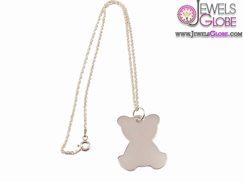 Sterling-Silver-Teddy-Necklace-for-Children 33 Amazing Designs Of Baby Necklaces