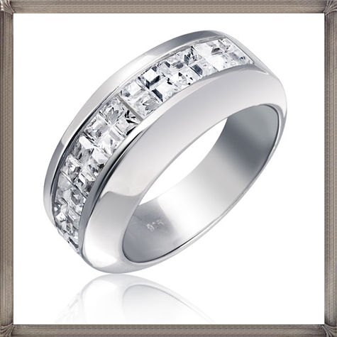 Sterling-Silver-Wedding-Band-Invisible-Cut-CZ-Unisex-Men 5 CRITICAL Tips You Should Keep in Mind When Buying Men's Silver Wedding Bands