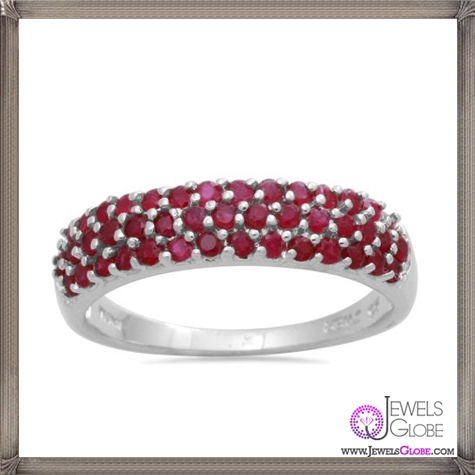 Sterling-Silver-and-Genuine-Ruby-Ring 32+ Most Elegant Genuine Ruby Rings For Women