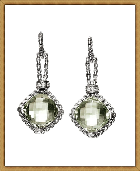 Sterling-silver-earrings-with-prasiolite-and-pave-diamonds Best Ways to Choose Most Stylish Earrings
