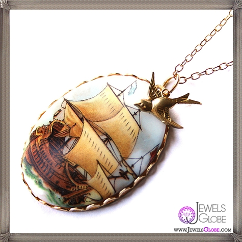 This-Galleon-ship-cameo-necklace-is-perfect-for-any-maiden-voyage The 13 Most Stylish Cheap Cameo Necklaces