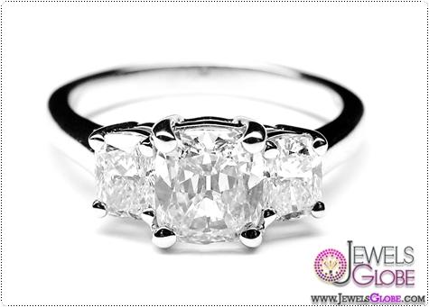 Three-Stone-Cushion-Diamond-Engagement-ring-0.60-tcw-in-14K-White-Gold1 3 Stone White Gold Engagement Rings for Women