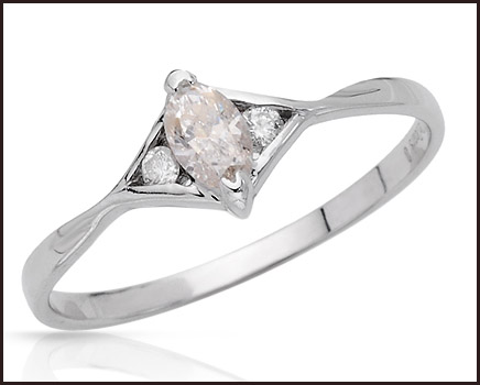 Three-stone-Ring-With-Precious-Stones-Genuine-Clean-Diamonds-Beautifully-Crafted-in-14K-White-Gold 14K White Gold Engagement Rings: Top Designs