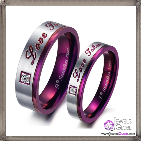 Titanium-steel-wedding-ring-lovers-jewelry-Classic-purple 5 CRITICAL Tips Before Buying Cheap Men's Jewelry PLUS Most Popular Designs