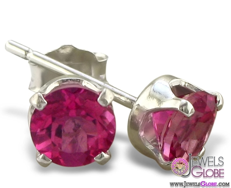 Topaz-red-gem-stud-earrings The 43 Hottest Gemstone Drop And Stud Earrings Designs for Women