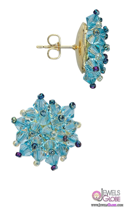 Torquoise-Gem-Stud-earrings The 43 Hottest Gemstone Drop And Stud Earrings Designs for Women