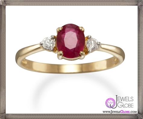 Traditional-style-oval-Ruby-ring-in-14kt-yellow-gold-with-Diamonds 32+ Most Elegant Genuine Ruby Rings For Women