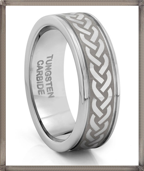 Tungsten-Carbide-Silver-Celtic-Knot-Wedding-Band-Ring 5 CRITICAL Tips You Should Keep in Mind When Buying Men's Silver Wedding Bands