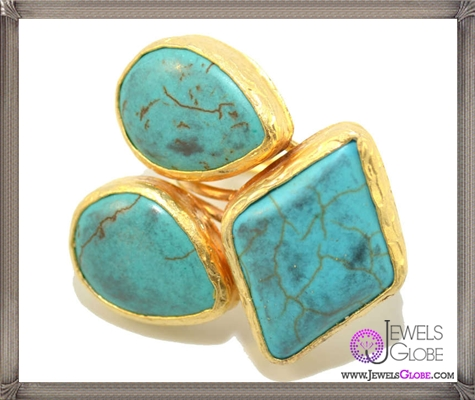 Turquoise-Three-Stone-Statement-Ring 10 Hidden facts about Gemstones That You Must Know