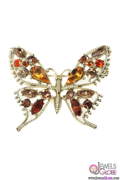 Vintage-Exquisite-butterfly-brooch-gold-and-gemstone-animal-brooch Top 10 Gemstone Brooches For Women