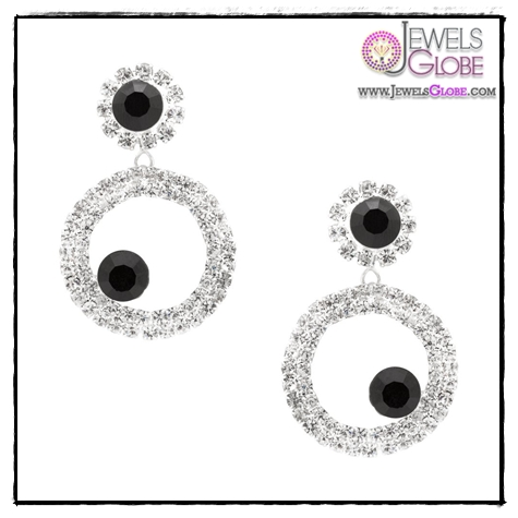 White-Gold-Diamond-Circle-Earrings Art of Wearing Jewelry for Young Girls