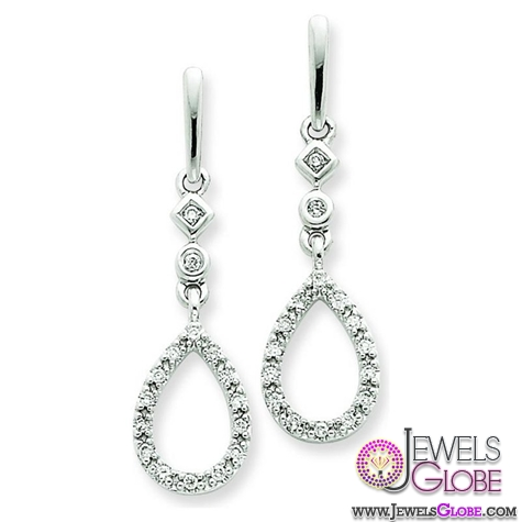 White-Gold-Diamond-Teardrop-Earrings 12 Diamond Teardrop Earrings Hot Designs For Women