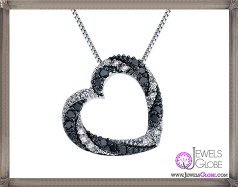 White-and-Black-Diamond-Heart-Pendant-Necklace The 28 Best Diamond Heart Necklaces & Pendants For Women and Buying TIPS
