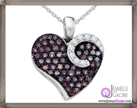 White-and-Champagne-Diamond-Heart-Pendant The 28 Best Diamond Heart Necklaces & Pendants For Women and Buying TIPS