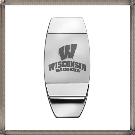 Wisconsin-Badgers-2-Toned-Silver-Trillium-Money-Clip The 15 Most Popular Sterling Silver Money Clips
