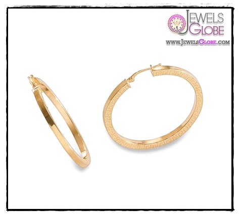 Yellow-14k-Gold-Flat-Design-Hoop-Earrings Art of Wearing Jewelry for Young Girls