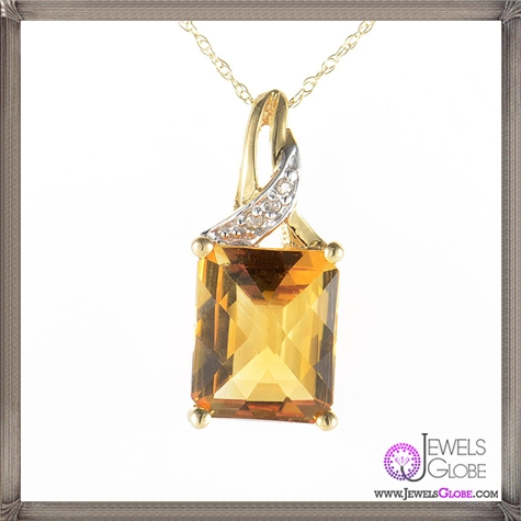 Yellow-Gold-Diamonds-Citrine-Pendant 10 Hidden facts about Gemstones That You Must Know