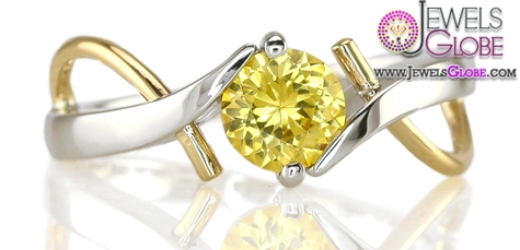 Yellow-Sapphire-Two-Tone-Ring The Most Stylish Gemstone Engagement Rings