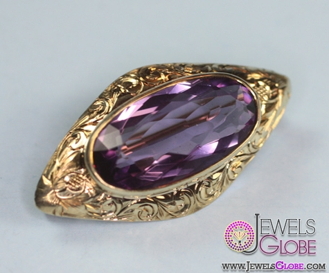 antique-gold-and-gemstone-brooch Top 14 Antique Gold Brooches for Women