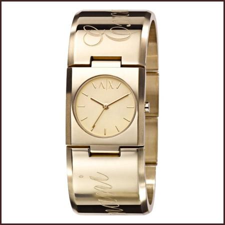 armani-exchange-gold-tone-ladies-watch Best 7 Armani Ladies Watches Designs