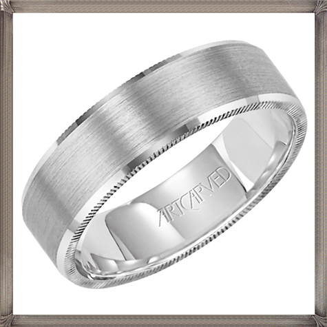 beveled-edges-and-a-brush-finish-this-mens-wedding-band 5 CRITICAL Tips You Should Keep in Mind When Buying Men's Silver Wedding Bands