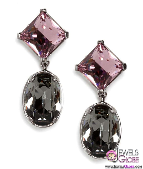 black-and-red-gemstone-drop-earrings The 43 Hottest Gemstone Drop And Stud Earrings Designs for Women