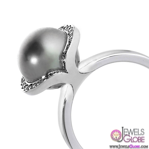 black-pearl-engagement-ring Top Pearl Rings For Sale