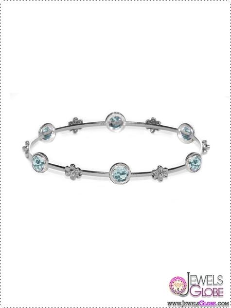 blue-topaz-silver-bracelet Blue Topaz Tennis Bracelet