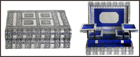 carved-metal-jewelry-boxes Best Jewellery Boxes to Keep Your Jewelry and Precious Gold in