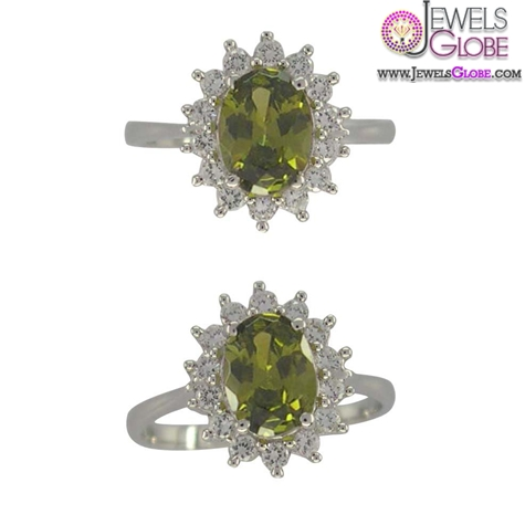 charming-silver-engagement-rings-with-grass-green-gemstone-for-women The Most Stylish Gemstone Engagement Rings