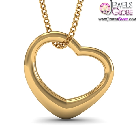 classic-heart-shaped-design-in-18KT-Yellow-Gold-pendent The 29 Most Popular Gold Pendant Designs For Women