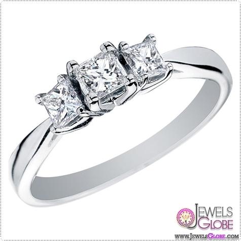 classic-three-stone-engagement-rings-3-pristine-princess 3 Stone White Gold Engagement Rings for Women