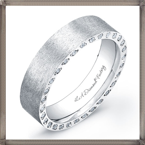 custom-designed-mens-wedding-band 5 CRITICAL Tips You Should Keep in Mind When Buying Men's Silver Wedding Bands