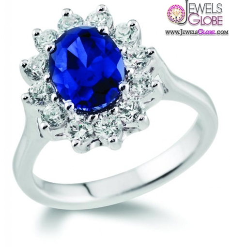 dark-blue-sapphire-engagement-rings-white-gold Top 21 Blue Sapphire Engagement Rings Designs